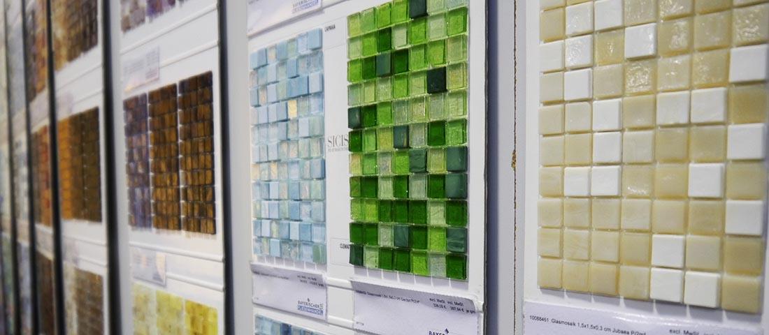 Große Farbauswahl bei Mosaiken