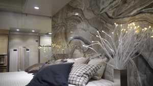 Wohnidee fürs Schlafzimmer mit Marmor